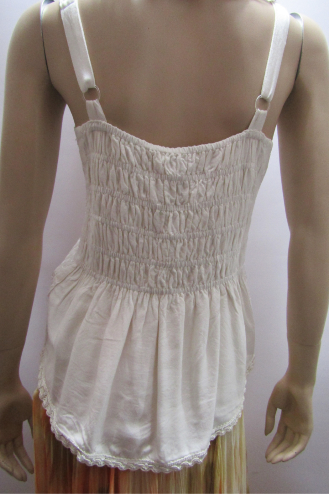 Apparel Love EMBROIDERED CAMISOLE TOP - Front Full Image