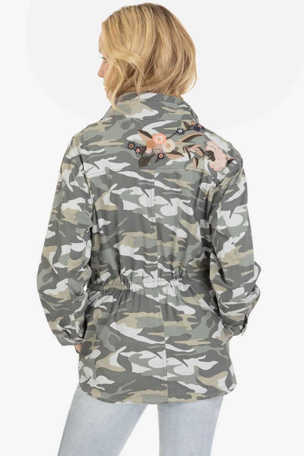 Tribal Embroidered Camo Jacket - Side Cropped Image