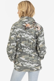 Tribal Embroidered Camo Jacket - Side cropped
