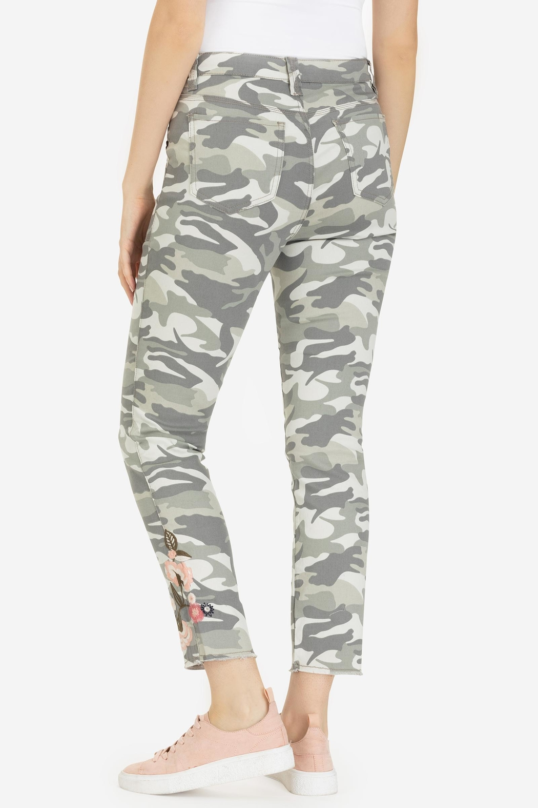 Tribal Embroidered Camo Jegging - Front Full Image