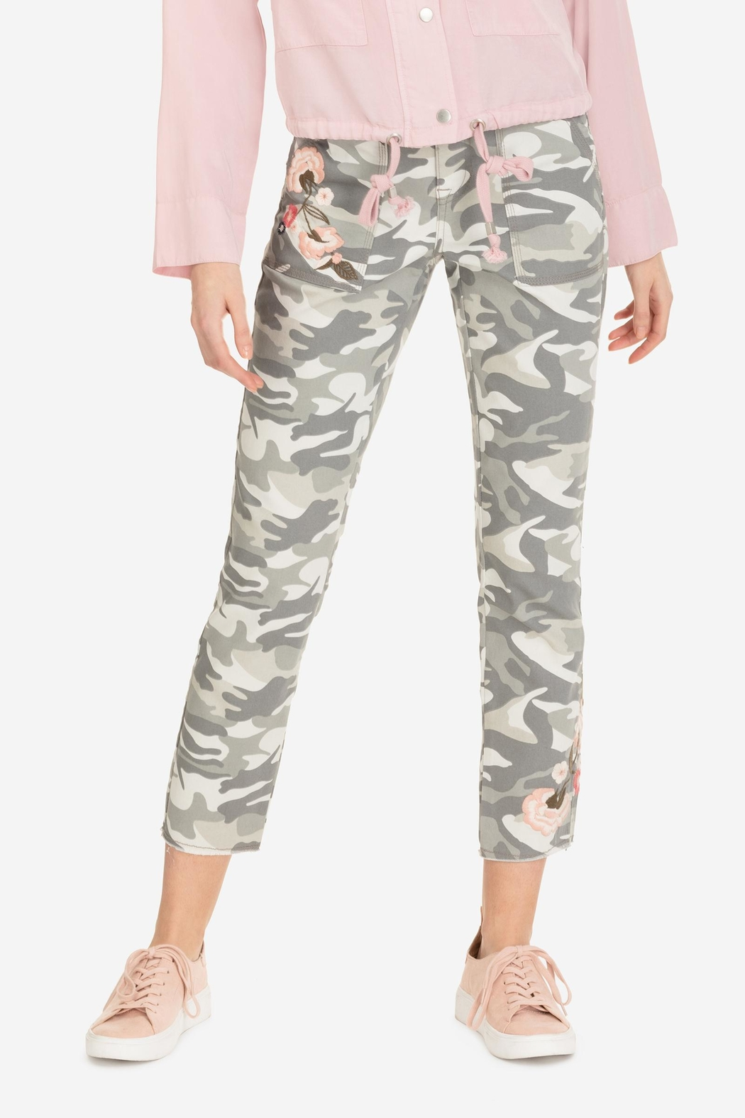 Tribal Embroidered Camo Jegging - Main Image