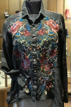 Shoptiques Product: Embroidered Camo Shirt