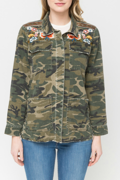 832d64c055 ... Mystree Embroidered camo shirt jacket - Product List Image