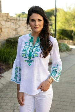 Sharon Young Embroidered Cantina Popover - Alternate List Image