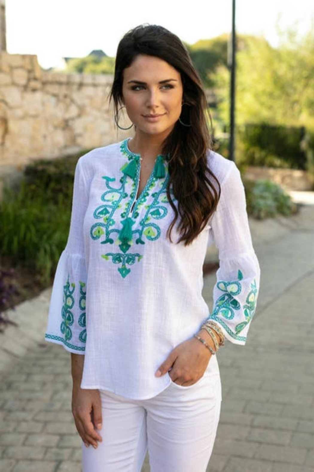 Sharon Young Embroidered Cantina Popover - Main Image