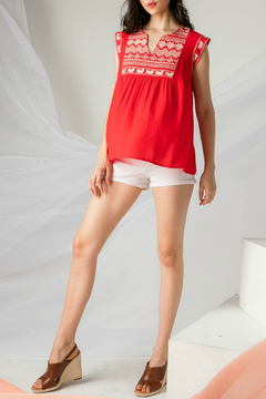 Thml Embroidered Cap Sleeve Top - Alternate List Image