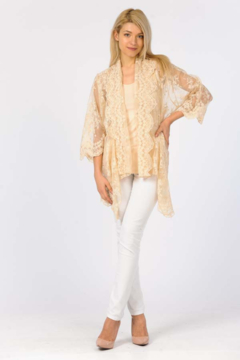 Shoptiques Product: Embroidered Cardigan/ Cami Set