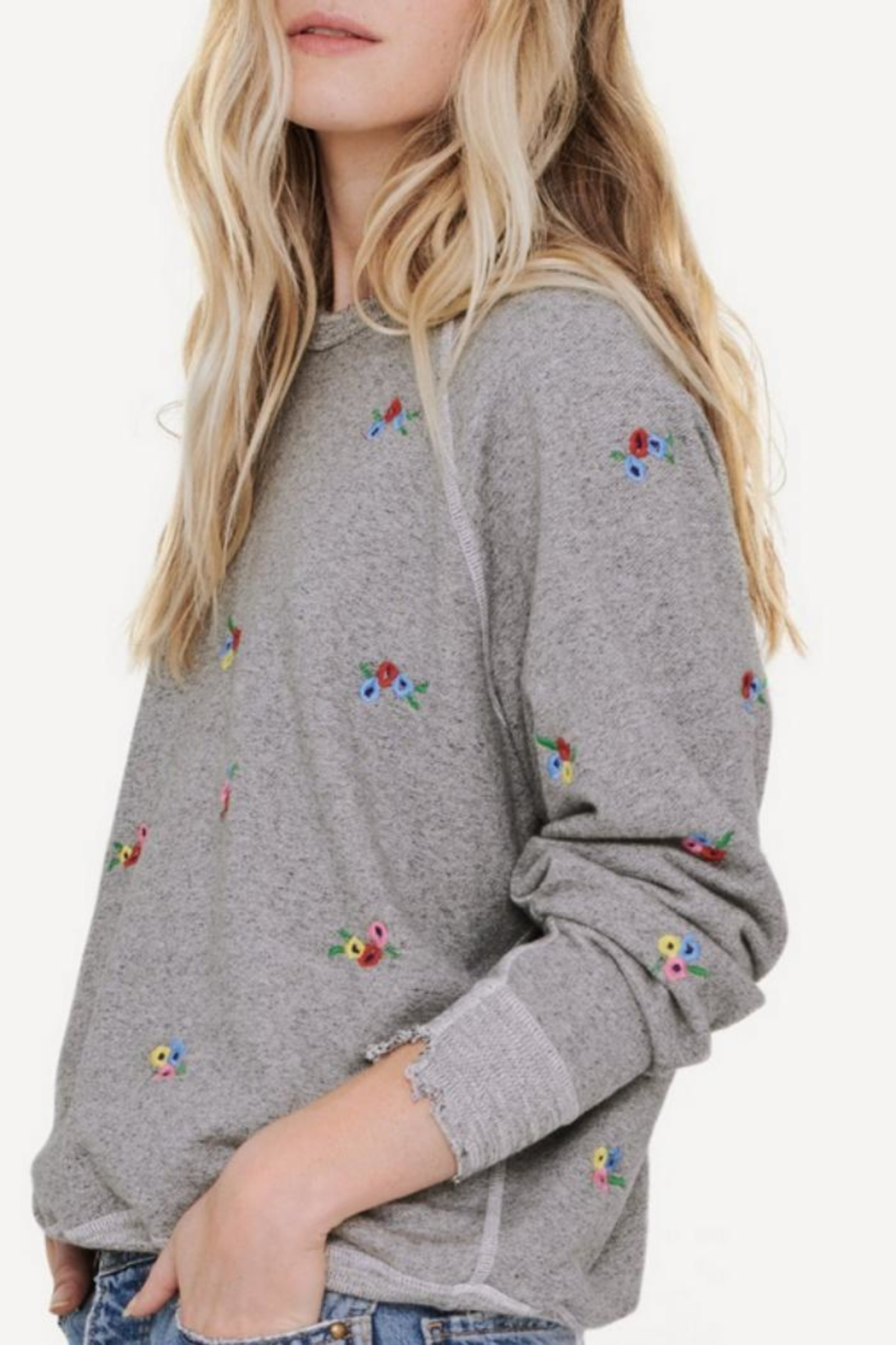 The Great Embroidered College Sweatshirt - Side Cropped Image