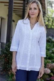 Gretty Zuegar Embroidered Cotton Blouse - Product Mini Image