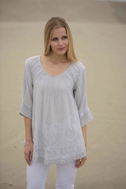 Gretty Zuegar Embroidered Cotton Tunic - Product Mini Image