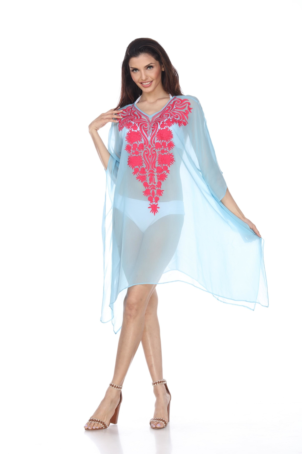Kareena's Embroidered Cover-Up - Front Cropped Image