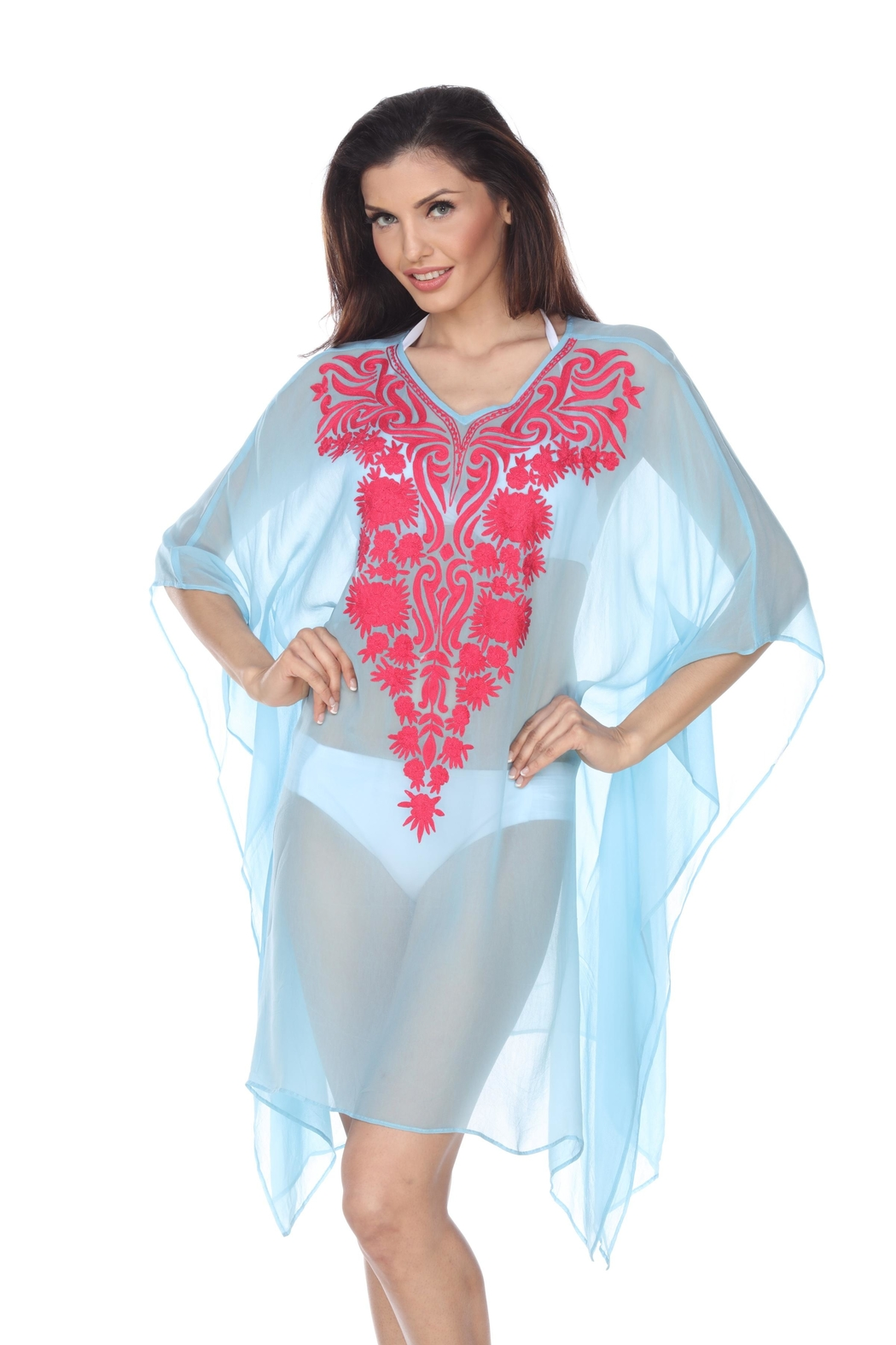 Kareena's Embroidered Cover-Up - Side Cropped Image