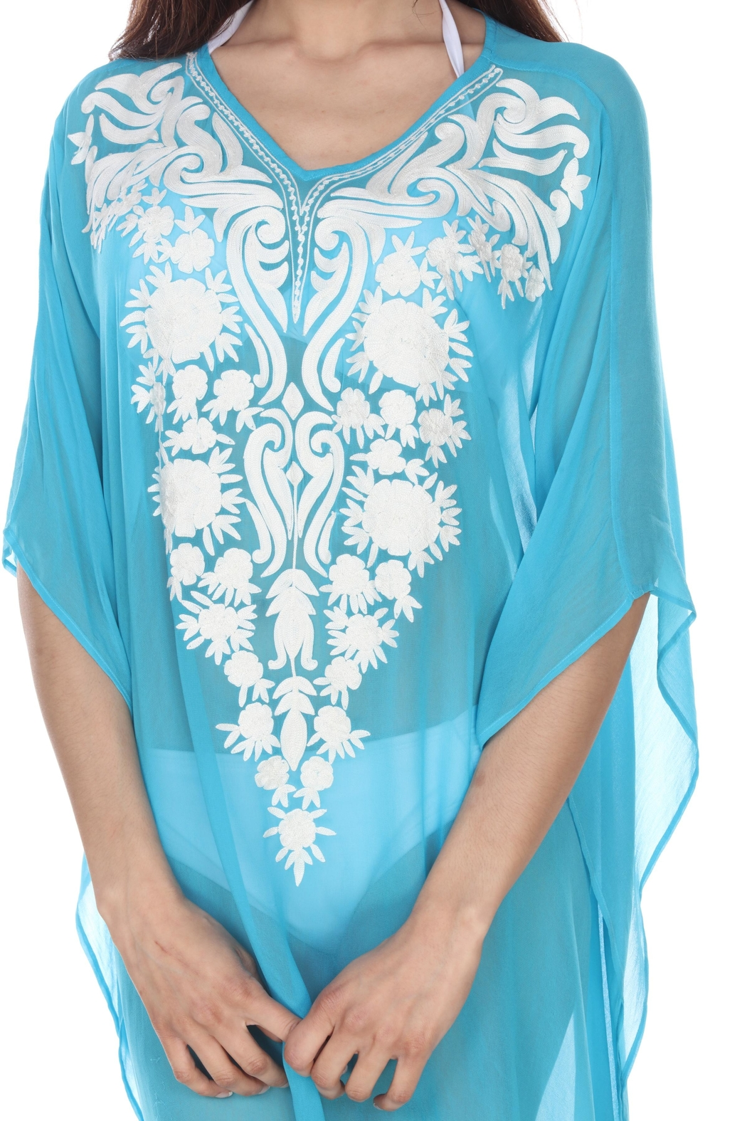 Kareena's Embroidered Cover-Up - Front Full Image