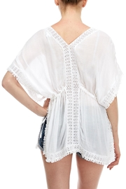 En Creme Embroidered Coverup Top - Back cropped