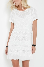 Fifteen Twenty Embroidered Crepe Dress - Product Mini Image