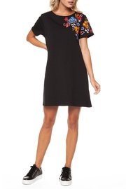 Dex Embroidered Crewneck Dress - Product Mini Image