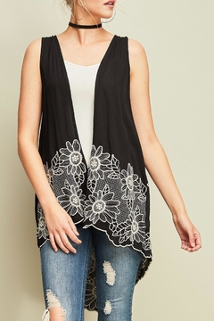 Entro Embroidered Crinkle Vest - Product List Image
