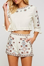 the clothing company Embroidered Crop Top - Product Mini Image