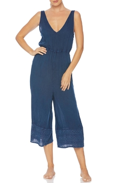 Splendid Embroidered Cropped Jumpsuit - Product List Image