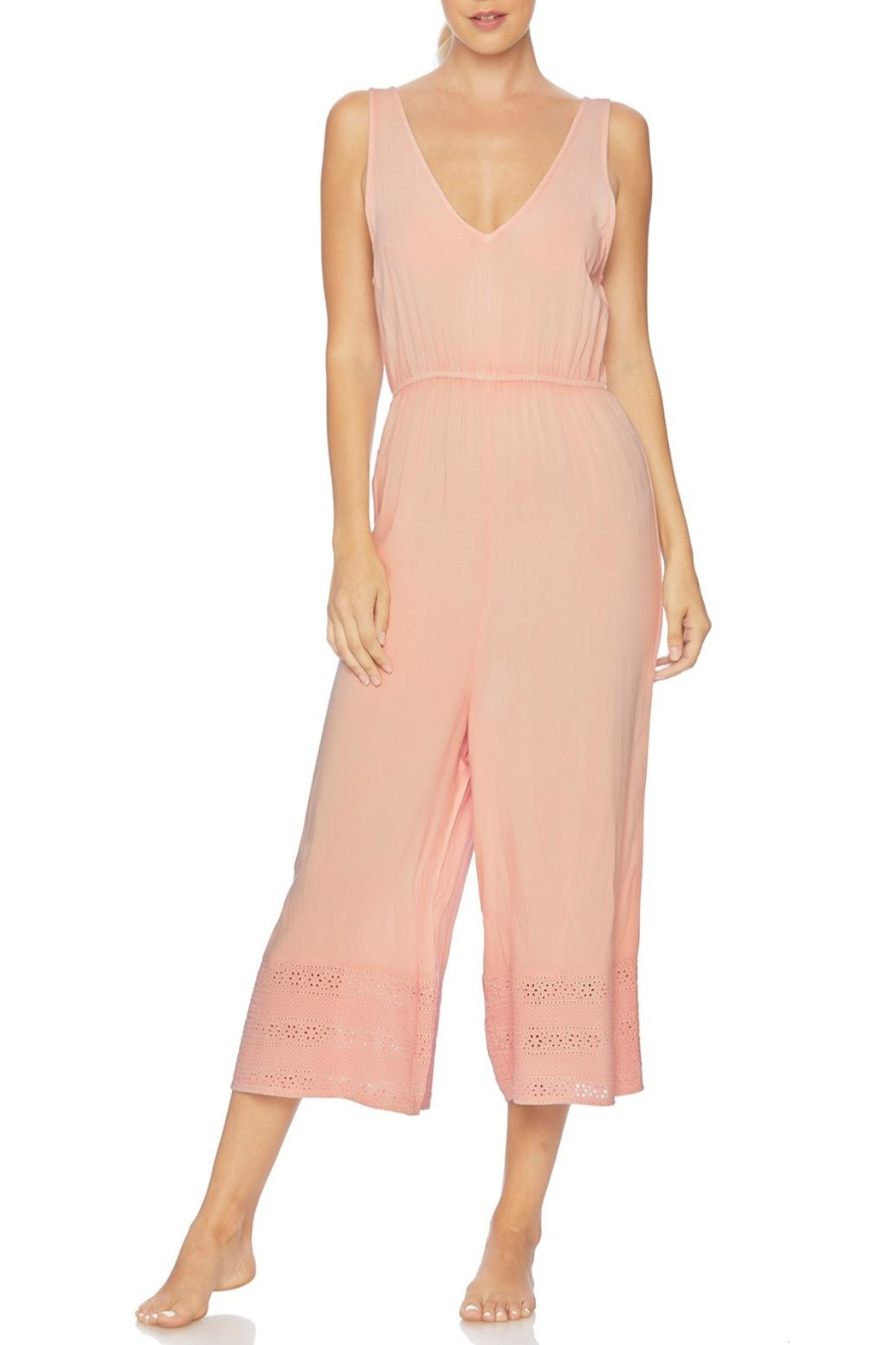 Splendid Embroidered Cropped Jumpsuit - Main Image