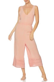 Splendid Embroidered Cropped Jumpsuit - Back cropped