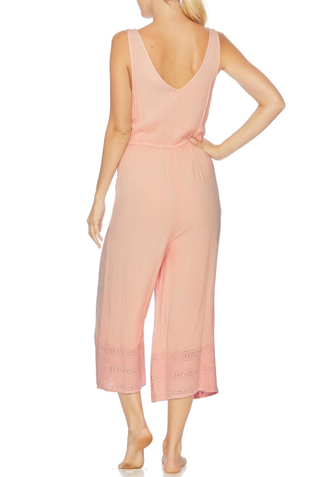 Splendid Embroidered Cropped Jumpsuit - Front Full Image