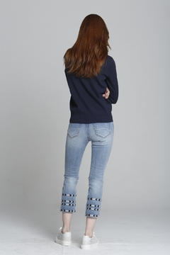 Driftwood Embroidered Cropped Straight Leg Denim - Alternate List Image