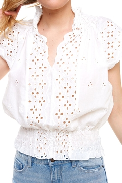 Mustard Seed Embroidered Cutout Top - Alternate List Image