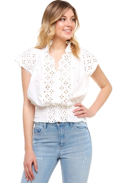 Mustard Seed Embroidered Cutout Top - Product List Image