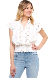 Mustard Seed Embroidered Cutout Top - Product Mini Image