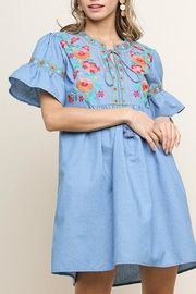 Umgee USA Embroidered Denim Dress - Product Mini Image