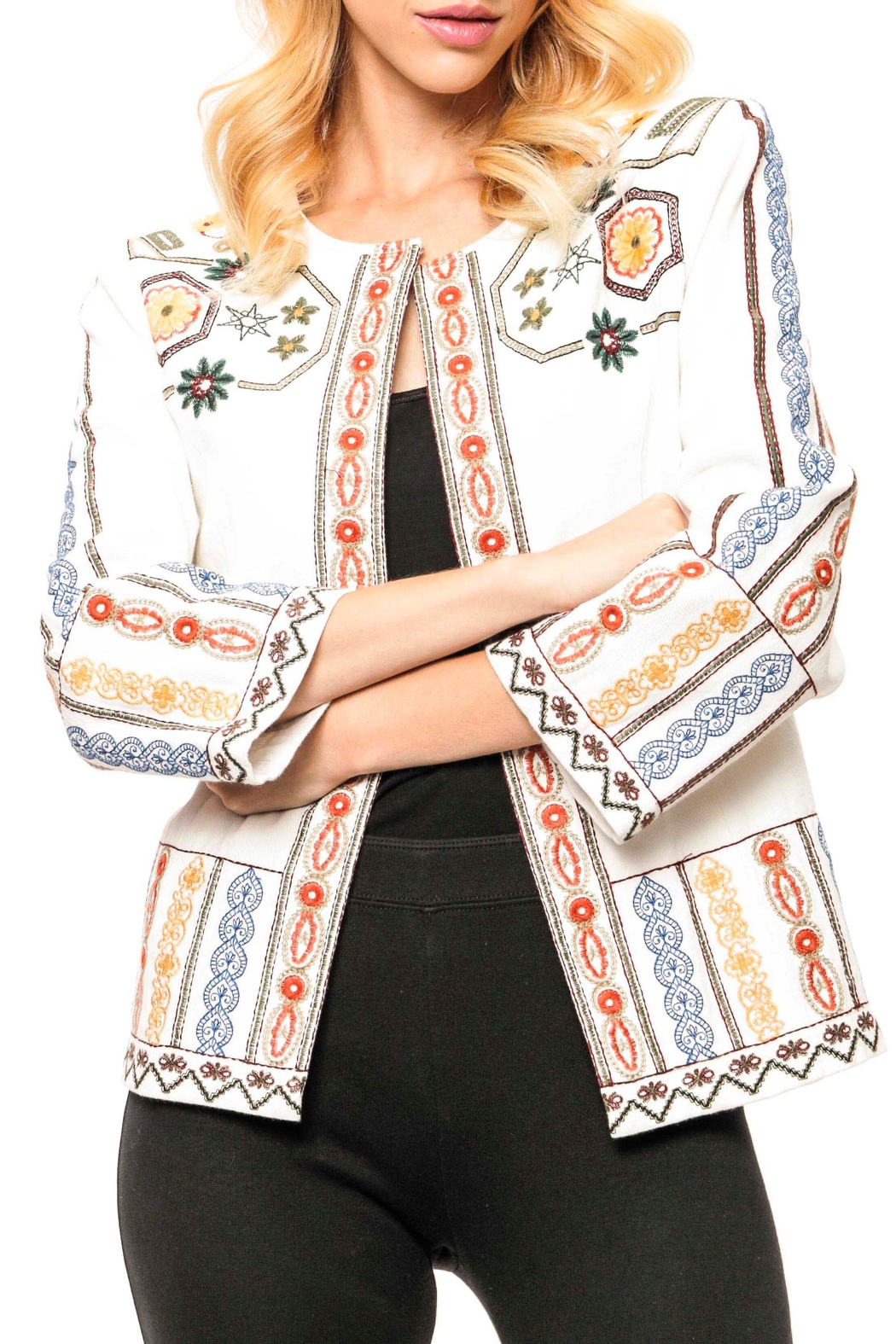 Adore Embroidered Denim Jacket - Main Image