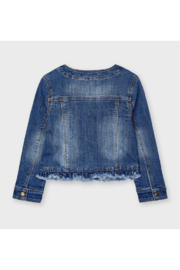 Mayoral Embroidered Denim Jacket - Front full body
