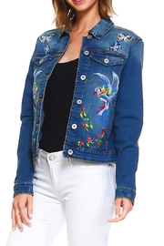 Baccini Embroidered Denim Jacket - Front full body