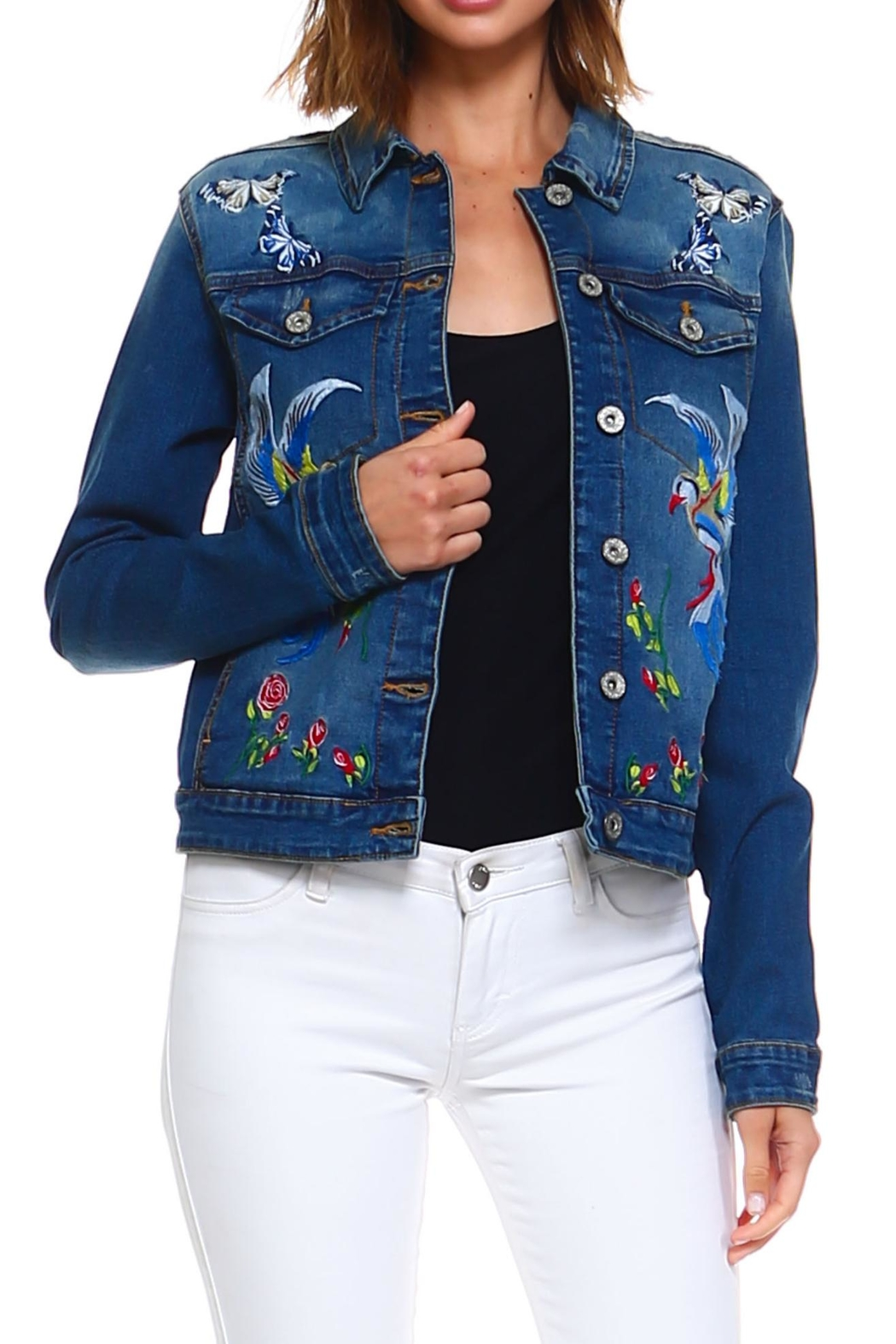 Baccini Embroidered Denim Jacket - Main Image