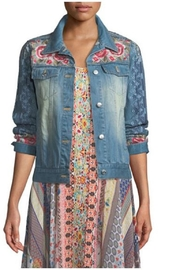 Johnny Was Embroidered Denim Jacket - Front cropped