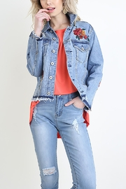 Umgee Embroidered Denim Jacket - Product Mini Image