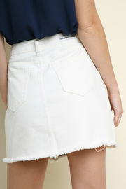 Umgee  Embroidered denim mini skirt - Side cropped