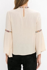 Jealous Tomato Embroidered Detail Blouse - Front full body