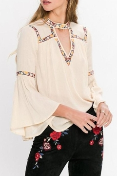Jealous Tomato Embroidered Detail Blouse - Product List Image