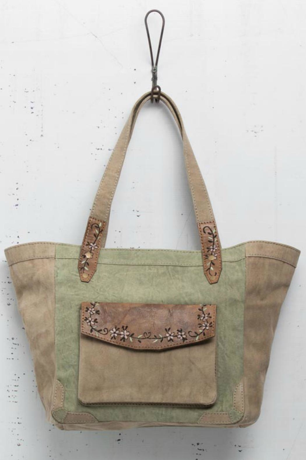 Mona B Embroidered Detail Handbag - Front Cropped Image