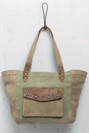 Mona B Embroidered Detail Handbag - Front cropped
