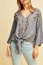 Entro Embroidered detail shirt - Product Mini Image