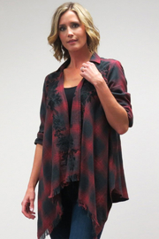 Caite Embroidered Drape Plaid Jacket - Product Mini Image