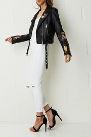 frontrow Embroidered Faux-Leather Jacket - Product Mini Image