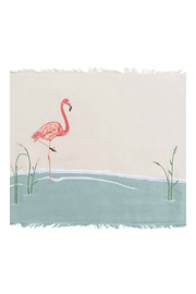 RIGHT SIDE DESIGN Embroidered Flamingo Placemats - Product Mini Image