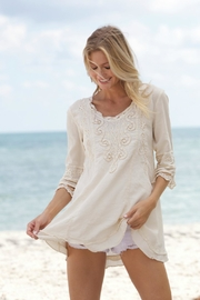 Gretty Zuegar Embroidered Flare Tunic - Product Mini Image