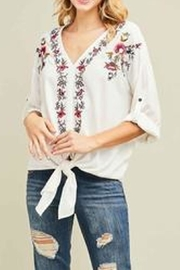 Entro Embroidered Floral Blouse - Product Mini Image