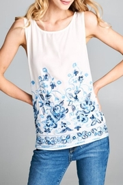 Renee C Embroidered Floral Blouse - Product Mini Image