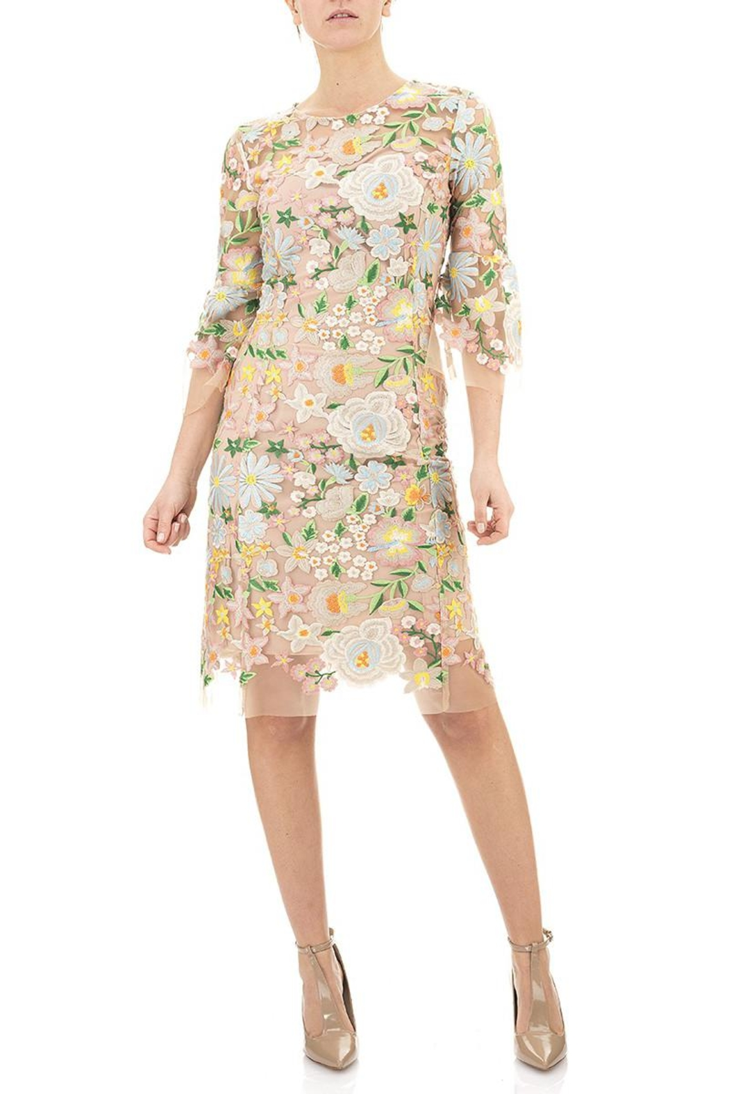 Seventy Embroidered Floral Dress - Front Full Image
